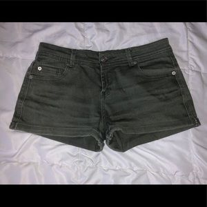 Faded olive green shorts